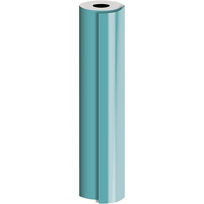 JAM Paper® Industrial Size Bulk Wrapping Paper Rolls, Matte Turquoise, 1/4 Ream (520 Sq. Ft.), Sold Individually (165J93930208)