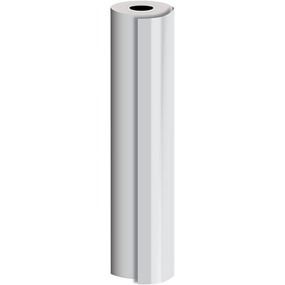 JAM Paper® Industrial Size Bulk Wrapping Paper Rolls, Matte Silver, 1/4 Ream (520 Sq. Ft.), Sold Individually (165J91430208)