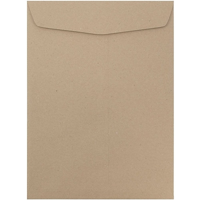 JAM Paper® 10 x 13 Open End Catalog Envelopes with Gum Closure, Recycled Brown Kraft, 50/pack (6315603i)