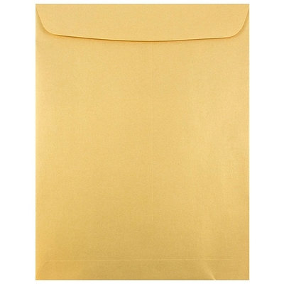 JAM Paper® 10 x 13 Open End Catalog Envelopes with Gum Closure, Gold Stardream Metallic, 25/pack (v018325a)