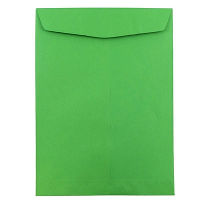JAM Paper® 10 x 13 Open End Catalog Colored Envelopes, Green Recycled, 50/Pack (v0128190i)