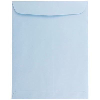 JAM Paper® 10 x 13 Open End Catalog Envelopes with Gum Closure, Baby Blue, 50/pack (1286188i)