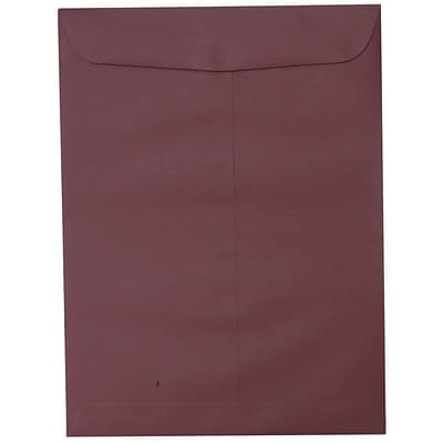 JAM Paper® 10 x 13 Open End Catalog Envelopes with Gum Closure, Burgundy, 25/pack (21285782a)