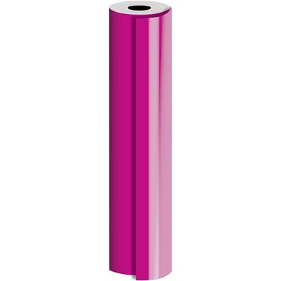 JAM Paper® Industrial Size Bulk Wrapping Paper Rolls, Magenta, Full Ream (2082.5 Sq. Ft.), Sold Individually (165J91030833)