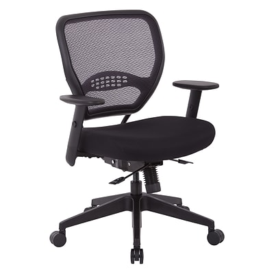 Office Star SPACE Seating Padded Mesh Fabric Seat And Mesh Back Manageru0027s  Chair, Black (