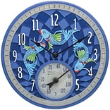 Springfield Precision 12 Poly Resin Clock with Thermometer, Koi Fish (92328)
