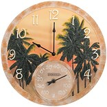 Springfield Precision 14 Poly Resin Clock with Thermometer, Coconut Bay (92669)