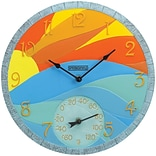 Springfield PrecisioN 14 Poly Resin Clock with Thermometer, Sunrise (92672)