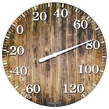 Springfield Precision 10 Tempered Glass Dial Thermometer, Barn Wood (98322)