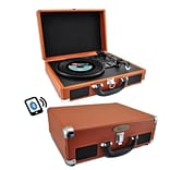 Pyle Home Portable Vintage Classic-Style Bluetooth Turntable System (PVTTBT6BR)