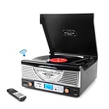 Pyle Home Retro Vintage Classic Style Bluetooth Turntable Vinyl Record Player with Recording Ability