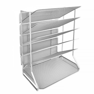 Seville Classics 6-Tray Iron Mesh Office Vertical Desktop/Wall Mount Organizer, Letter/A4 Size (OFF42666)
