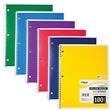 Mead Spiral 1-Subject Notebook, 8 x 11, College Ruled, 100 Sheets, Assorted (06622)