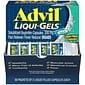 Advil Liqui-Gels Pain Reliever/Fever Reducer, Solubilized Ibuprofen 200mg, 100 Count (50 Packets of