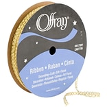 Quasar Ribbon 1/8X25yd-Gold