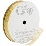 Charade Ribbon 5/8X25yd-Gold