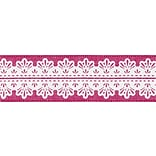 Solid Wired Ribbon W/White Center Design 1-1/2X15yd-Fuchsia