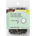 Dritz Upholstery Decorative Nails 7/16 300/Pkg-Antique Brass Smooth Nailhead