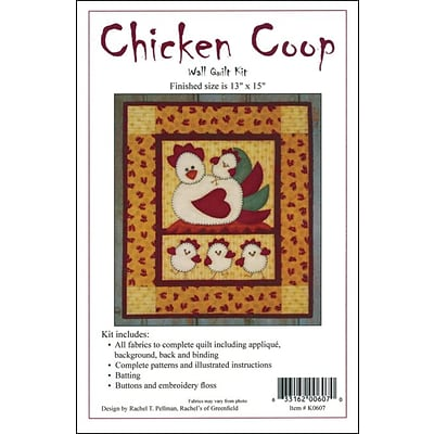 Chicken Coop Wall Quilt Kit-13X15