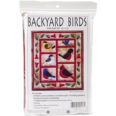 Backyard Birds Wall Quilt Kit-13X15