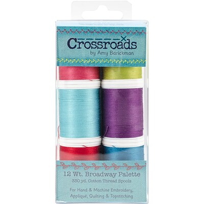 Crossroads Sulky Blendables 12wt 6/Pkg-Broadway Collection