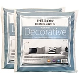 Decorative Pillow Insert Twin Pack-18X18 FOB: MI