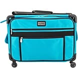 TUTTO Machine On Wheels Case-20X13X9 Turquoise
