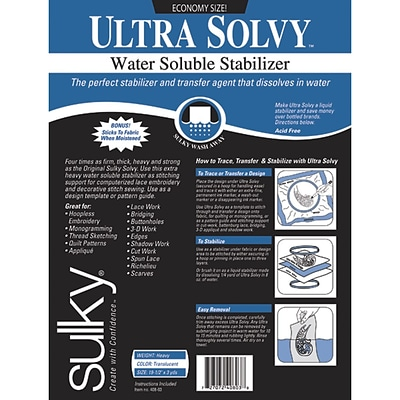 Ultra Solvy Water-Soluble Stabilizer-19.5X3yd