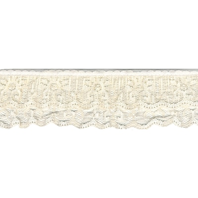 Ruffled Lace 2X12yd-Natural