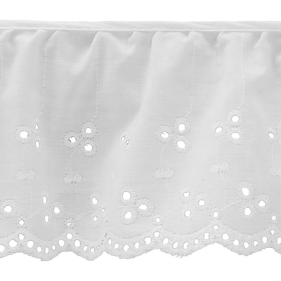 Simple Eyelet 4X10yd-White