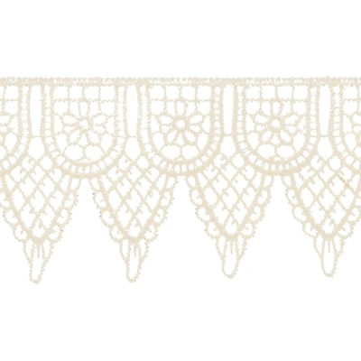 Double Scalloped Venice Lace 2-1/4X10yd-Candlelight