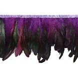 Fionna Feather Fringe Trim 6X5yd-Purple