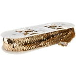 3 Row Stretch Sequins 1-1/8X8yd-Gold