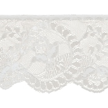 Flower Cameo Lace 3-7/8X12yd-White