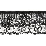 Tier Line Lace 2X12yd-Black