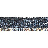 5 Row Stretch Sequins 1-3/4X6yd-Silver