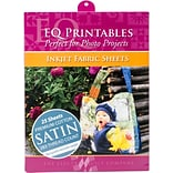 Premium Printable Cotton Satin Fabric 8.5X11 25/Pkg-