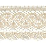 Fan Cluny Lace 3-1/2X12yd-Natural