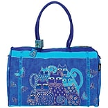 Travel Bag 21X9X14-Indigo Cats