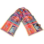 Laurel Burch Scarves-Fantastic Feline Totem Classic