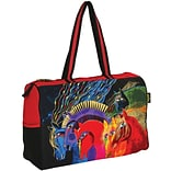 Travel Bag Zipper Top 21X8X15-Wild Horses Of Fire