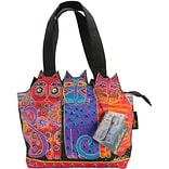 Medium Tote Zipper Top 12X3.5X8.5-Tres Gatos - Red, Orange & Blue