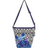 Crossbody 11.5X3X12-Whiskered Cats - Blue