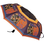 Laurel Burch Compact Umbrella 42 Canopy Auto Open/Close-Feline Family Portrait