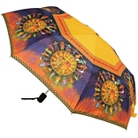 Laurel Burch Compact Umbrella 42 Canopy Auto Open/Close-Harmony Under The Sun