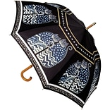 Laurel Burch Stick Umbrella 42 Canopy Auto Open-Polka Dot Cats