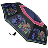 Laurel Burch Compact Umbrella 42 Canopy Auto Open/Close-Dogs & Doggies