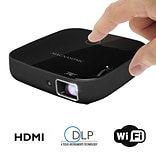 Magnasonic PP72 HDMI 80 Display Black 1080P Wi-Fi Mini Video Projector