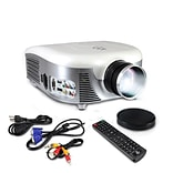 Pyle Home PRJD907 800 x 480 Widescreen Digital Multi-Media LED Projector , White/Silver