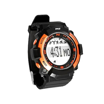 Pyle Sport Multi Function Sports Wrist Watch With Sleep Monitor, Pedometer, Step Counter And Stop Watch (psptr19or)